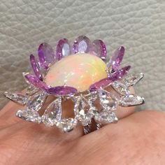 VAK opal and sapphire ring spotted at DJWE 2018