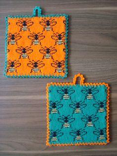 Humlor Knitting Patterns Free, Free Knitting, Free Pattern, Crochet Hooks, Knit Crochet, Cross Stitch Charts, Knitting Needles, Pot Holders, Diy And Crafts