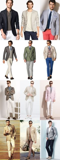 Men's Linen Blazers Outfit Inspiration LookbookTo wear linen confidently, then, is to embrace its relaxed crumpledness. And the easiest way to do this is with a linen shirt or blazer, but perhaps not both at the same time. For example, a linen blazer worn with a crisp cotton shirt creates a smart contrast in textures, while a linen shirt worn with a wool blazer or suit is an excellent way to dress down formal attire