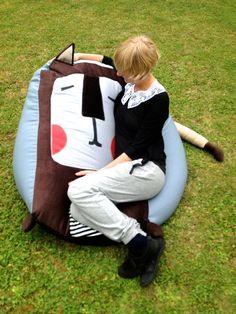 sitzsack idea for bookrest naaischof pinterest ideen. Black Bedroom Furniture Sets. Home Design Ideas