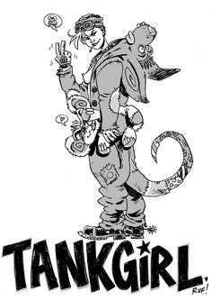 Another TANK GIRL commission piece done!  XXX Rufus Dayglo - Team Tankie / SGDM