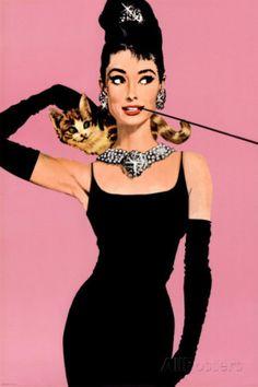 O Pôster Audrey Hepburn 61x91 custa R$17 na All Posters.