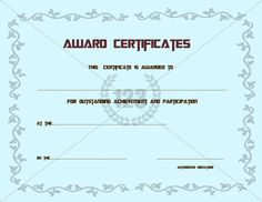 Best Participation Award Certificates Templates - 123Certificates #Certificate #Template