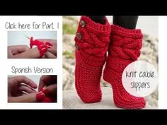 HOW TO KNIT CABLE SLIPPERS - YouTube