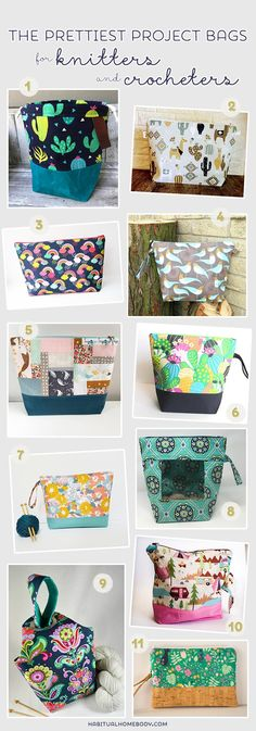 The prettiest project bags for knitters and crocheters