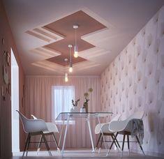 Art Deco Fashion, Decoration, Leroy Merlin, Dining Table, Ceiling Lights, Furniture, Gypsum, Design, Home Decor