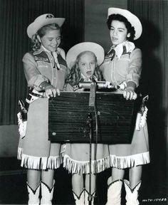 Cheryl Holdridge, Karen Pendleton and Annette Funicello