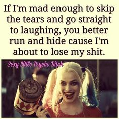 Joker Quotes : 23 Joker quotes that will make you love him more 35 best Harley Quinn Suicide Sq… – Humor bilder Bitch Quotes, Joker Quotes, Badass Quotes, True Quotes, Funny Quotes, Psycho Quotes, Dc Memes, Joker And Harley Quinn, Quotes To Live By