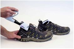 The SteriShoe sanitizer destroys microorganisms in shoes with its germicidal UVC lamp.