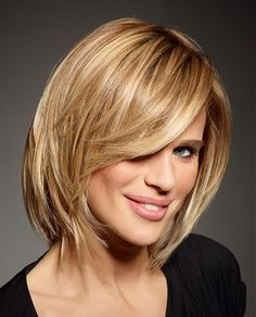 A medium blonde straight coloured multi-tonal smooth healthy Womens hairstyle by Intermede