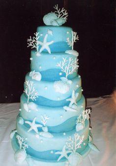 Ocean Theme Wedding Cakes | Anslie's blog: accessory beach theme wedding