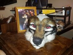 Cassandrus fursuit head Mark II - by Miss.Anthro for Cassandrus_Blackclaw  USES CHC CANINE MASK AND NOSE