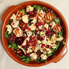 Halloumi, Ottolenghi, Pasta Salad, Potato Salad, Cauliflower, Food To Make, Foodies, Healthy Recipes, Healthy Food