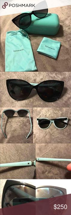 Tiffany&Co cat eye sunglasses Tiffany cat eye sunglasses. In near perfect condition, only shows minimal wear, they have been worn maybe 5 times. Polarized, stamped on lens and ear post and original lens serial number. Comes with box, keeping bag and polish cloth. Tiffany & Co. Accessories Sunglasses