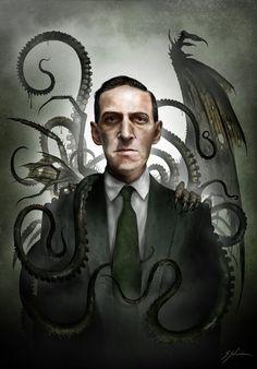 Lovecraft by Sam Shearon🕸💀 Hp Lovecraft, Lovecraft Cthulhu, Arte Horror, Horror Art, Dark Fantasy Art, Dark Art, Necronomicon Lovecraft, Yog Sothoth, Call Of Cthulhu Rpg