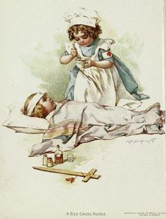 "Gallant little patriots illustration...""A Red Cross Nurse"", by Maud Humphrey"