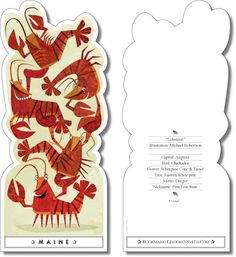 Lobsters - Welcome to Bookmark USA - Choose a bookmark of 1 state or all 50.