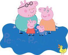 'Peppa Pig Family' Poster by Jangel Nolasco Garcia Peppa Pig Familie, Familia Pig, Peppa Pig Imagenes, Peppa Pig Wallpaper, Peppa Pig House, Pig Png, Aniversario Peppa Pig, Cumple Peppa Pig, Childhood