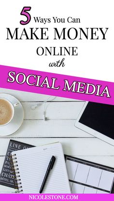 Learn exactly hot to make money with your social media using this ultimate guide! Who knew your social accounts could lead to an income online? Click through for the 5 ways I make money with my social media accounts. #socialmedia #makemoneyonline #marketing