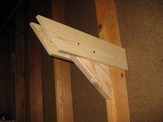 Overhead Wall Lumber Storage - by cjones @ LumberJocks.com ~ woodworking community