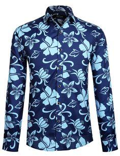 210842111c75f5 APTRO Men s Cotton Button Down Shirt Long Sleeve Floral Shirt  Amazon.co.uk   Clothing