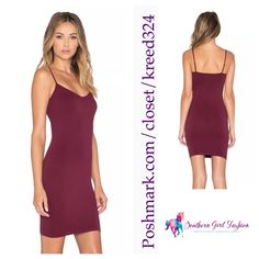 """FREE PEOPLE Dress Intimately Seamless Mini Slip Size XS/S. New with tags. $30 Retail + Tax.  Eggplant purple stretchy mini slip. V-neckline and adjustable straps.  Perfect for layering.  Nylon, spandex.   Measurements for XS/S: Length: 28.5"""" Bust: 24"""" Total strap length: 13""""     ❗️ Please - no trades, PP, holds, or Modeling.    Bundle 2+ items for a 20% discount!    Stop by my closet for even more items from this brand!  ✔️ Items are priced to sell, however reasonable offers will be…"""