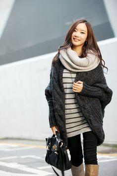 Fashionable Style V-Neck Loose Batwing Sleeve Cable Knit Cardigan For Women (WHITE,ONE SIZE) China Wholesale - Sammydress.com