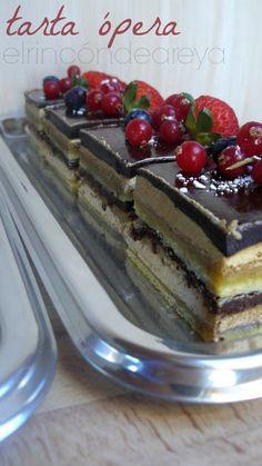 DESAFÍO EN LA COCINA: Resultados de la búsqueda de ópera Choco Chocolate, Tiramisu, Delicious Desserts, Cake Recipes, Recipies, Food And Drink, Pudding, Sweets, Sugar