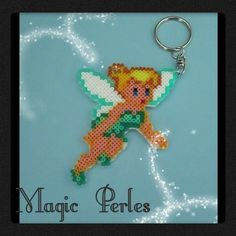 Tinker Bell keychain hama perler beads by Alice Tobbi - magic-perles