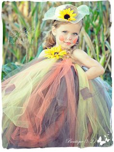 Scarecrow Tutu Dress, Scarecrow Dress, Scarecrow Costume, Fall Tutu Dress…