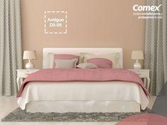 ¿Buscas darle a tu habitación un toque de frescura y feminidad? El color #Antiguo puede ser una excelente opción. #ComexPinturerías #Comex #México #ColoresDeMiMéxico #Decoración