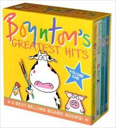 Amazon.com: Boynton's Greatest Hits: Volume 1/Blue Hat, Green Hat; A to Z; Moo, Baa, La La La!; Doggies (Boynton Board Books) (9780689823220): Sandra Boynton: Books