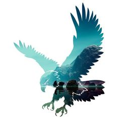 Just another beautiful picture of an eagle. It is very strong and majestic just like Zeus. Flying Eagle Wall Décor By Millwood Pines Eagle Tattoos, Tribal Tattoos, Celtic Tattoos, Wing Tattoos, Geometric Tattoos, Sleeve Tattoos, Eagle Artwork, Eagle Silhouette, Eagle Drawing