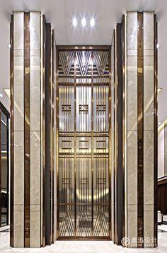 38 New Ideas Bedroom Luxury Hotel Art Deco Columns Decor, Interior Columns, Lobby Interior, Interior Architecture, Interior Design, Hotel Bedroom Design, Design Hotel, Accor Hotel, Casa Loft