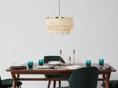 Designer Pendant Lighting   MADE.COM Plug In Wall Lights, Ceiling Light Fixtures, Ceiling Lights, Guest Bedrooms, Polished Brass, Glow, Pendants, Lighting, Table