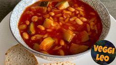 Mediterraner Nudel-Bohnen-Eintopf - Rezept von Veggi Leo Zucchini, Chana Masala, Thai Red Curry, Soup, Ethnic Recipes, Youtube, Leo, Vegetarische Rezepte, Vegan Main Dishes