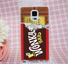 Willy Wonka Bar With Golden Ticket Transparent Hard Case for Samsung Galaxy A3 A5 A7 A8 Note 2 3 4 5