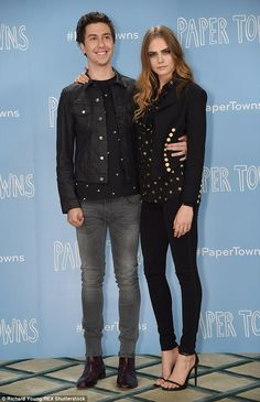 Nat Wolff and Cara Delevingne - Photocall of 'Paper Town' in London. (18 June 2015)