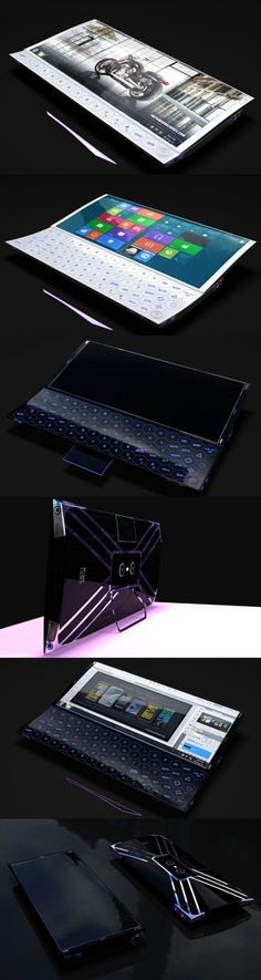 Shame it's only a conceptual design, this looks amazing!  #smartphone #computer #amazing #technology #design #Formitize