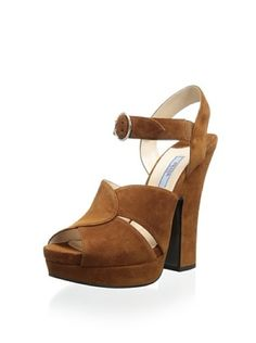 52% OFF Prada Women's Platform Sandal (Brown)