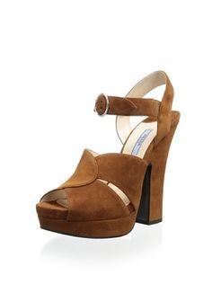 52% OFF Prada Women's Platform Sandal (Brown)