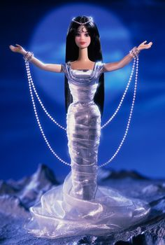 Midnight Moon Princess™ Barbie® Doll She goes with the Morning Sun Princess and the Evening Star Princess