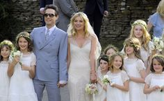 Kate Moss and Jamie Hince were married on July 1, 2011 at St. Peters Parish Church in the Cotswalds. Photo: Flynet Pictures