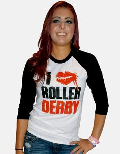 I Love Roller Derby Baseball Tee by BulletBoutfits on Etsy, $25.00