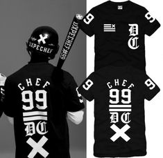 On Sale Fashion Dxpe chef fork 99 westcoast skateboard o-neck short-sleeve T-shirt cotton Streetwear hip-hop tees shirts $9.17