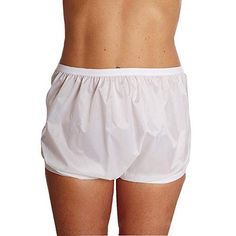 Womens Water-Proof Duralite Incontinence Pull On Pants Style Wear Over Depends Or Disposable Diapers For Daytime & Bedding Protection Heading Fonts, Waterproof Pants, Plastic Pants, Disposable Diapers, Pull On Pants, Potpourri, Gym Shorts Womens, Underwear, Women's Fashion