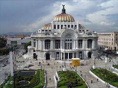 El Palacio de Bellas Artes - Mexico DF.  (Fine arts palace)  I believe they had a ballet performing at the time.