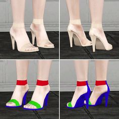 Strap sandals by Rusty Nail - Sims 3 Downloads CC Caboodle