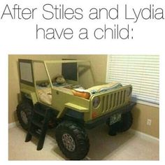 this is too much and so true ahah Stiles and his jeep!