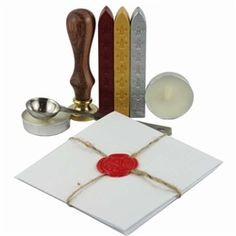 Seal your love letters and envelopes, parchments and presents with Peppy Brown Colonial wax set.